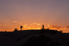 Photographers at Sunset Royalty Free Stock Image