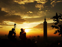 Photographers and Taipei101 Stock Image