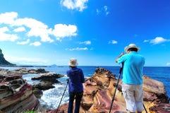 Taiwan landscape. Taiwan landscape in Nanya Rd., Ruifang Dist., New Taipei City Royalty Free Stock Photos