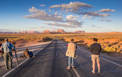 Photographers taking pictures of Monument Valley Stock Photography