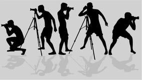 Photographers vector stock illustration