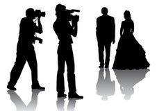 Photographers at a wedding Stock Image