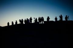 Photographes à l'aube images libres de droits