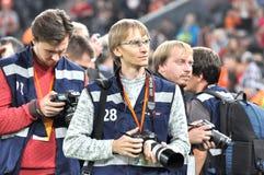 Photographes attendant des joueurs Image libre de droits