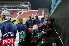 Photographes autorisés dans Champions League Image libre de droits
