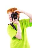 Photographes de l'adolescence rouges Images libres de droits