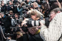Photographes de presse images stock
