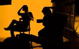 Photographes et modèle photographie stock libre de droits