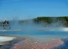 Photographes et piscine de geyser Photographie stock