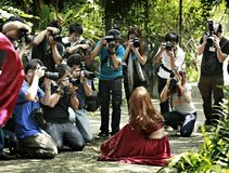 Photographes tha?landais image libre de droits