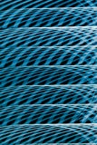Photographic blue abstract light wave traces. Royalty Free Stock Photography