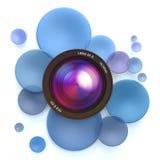 Photographic blue background Royalty Free Stock Photo