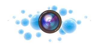 Photographic blue spheres Royalty Free Stock Images