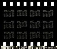 Photographic Calendar for 2009. 2009 Calendar inside a photographic film frame Stock Image