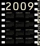 Photographic Calendar for 2009. 2009 Calendar inside a photographic film frame Royalty Free Stock Images