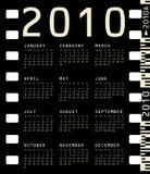 Photographic Calendar for 2010. 2010 Calendar inside a photographic film frame Stock Photography
