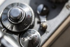 Photographic camera detail close up Royalty Free Stock Photography