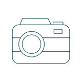 Photographic camera icon Royalty Free Stock Photography