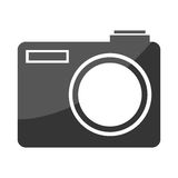 Photographic camera isolated flat icon. Stock Photos