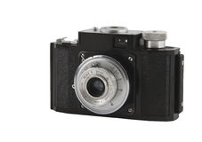 Photographic camera isolated over white Royalty Free Stock Image