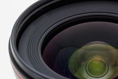 Photographic camera lens. Stock Images