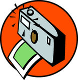 photographic camera taking a photography. Vector Stock Images