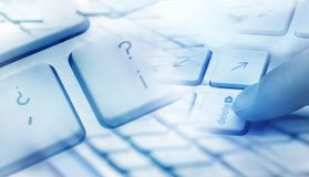 Keyboard delete concept Royalty Free Stock Images