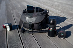 Photographic equipment Royalty Free Stock Images