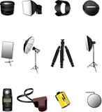 Photographic equipment. Icon,vector,illustration Royalty Free Stock Photography