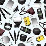 Photographic equipment seamless pattern Stock Image