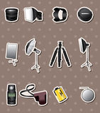 Photographic equipment stickers Stock Photo
