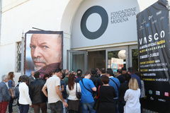 Photographic exhibition on the life of Vasco Rossi Royalty Free Stock Image
