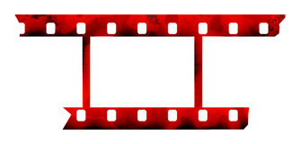 Photographic film. The photographic film with truncated edges on a white background Royalty Free Stock Images