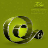 Photographic film. Realistic photographic film, element for design, vector illustration Royalty Free Stock Photo