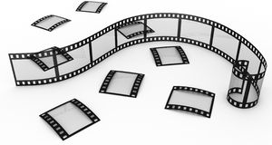 Photographic film. Isolated three-dimensional photographic film on white background Royalty Free Stock Photo