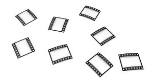 Photographic film. Isolated three-dimensional photographic film on white background Royalty Free Stock Photos