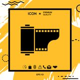 Photographic film cassette icon. Element for your design Stock Images