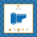 Photographic film cassette icon. Signs and symbols - graphic elements for your design Stock Image