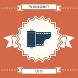 Photographic film cassette icon. Signs and symbols - graphic elements for your design Stock Photography