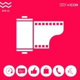 Photographic film cassette icon. Signs and symbols - graphic elements for your design Stock Images
