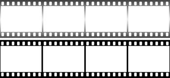 Photographic film in form of frame on white background. Royalty Free Stock Photography