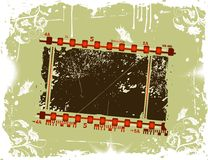 Photographic film frame. Grunge photographic film frame with flower & butterfly, element for design, vector illustration Royalty Free Stock Image