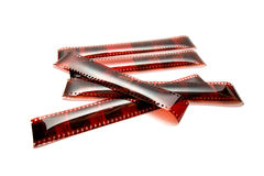 Photographic film isolated on the white background Royalty Free Stock Photography