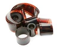 Photographic film. Isolated on white background Stock Photo
