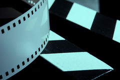 Photographic film. Movie clapper for shooting Films Royalty Free Stock Photos
