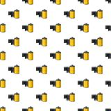 Photographic film pattern. Seamless repeat in cartoon style vector illustration Stock Photo