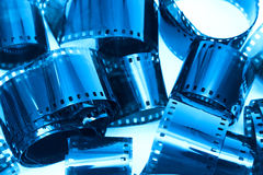 Photographic film pieces Stock Images