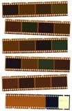 Photographic film strip stock image