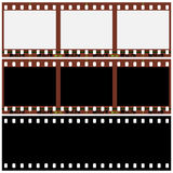 Photographic film. Three pieces of photographic film on a white background  illustration Stock Photos