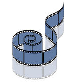 Photographic film on a white background Royalty Free Stock Image